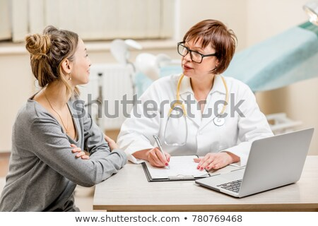 Stock photo: patient young women_beauty