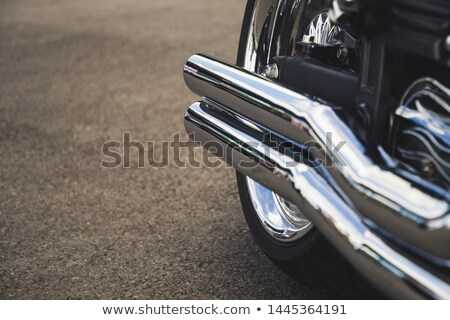 Motorbike rear wheel close-up Stock photo © homydesign