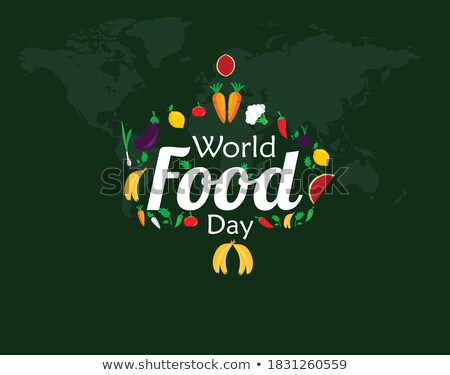 food day greeting card of vegetable world map stock photo © cienpies