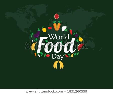 Stok fotoğraf: Gıda · gün · tebrik · kartı · sebze · dünya · haritası · örnek