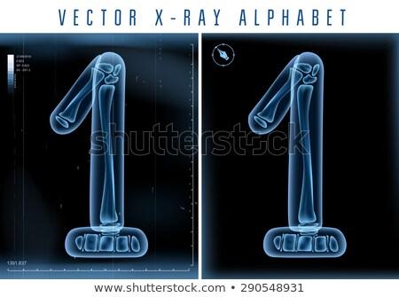 Transparant Xray nummers 3D 3d render illustratie Stockfoto © djmilic