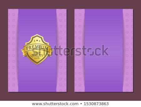100 garantir sceau texte échantillon or Photo stock © robuart