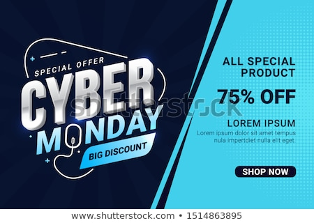 Abstract Cyber Monday Sale Vector Background Illustration stock photo © SaqibStudio