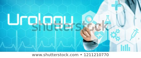 Doctor touching an icon on a futuristic interface - Urology Stock photo © Zerbor