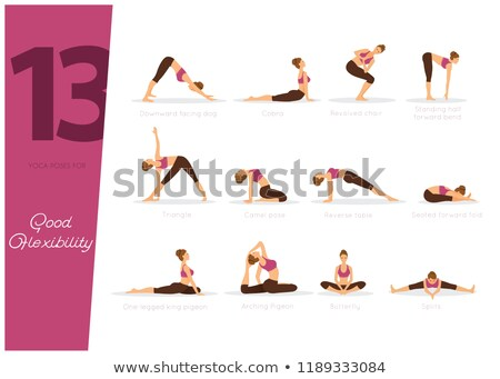 13 yoga poses for good flexibility Stock photo © anastasiya_popov