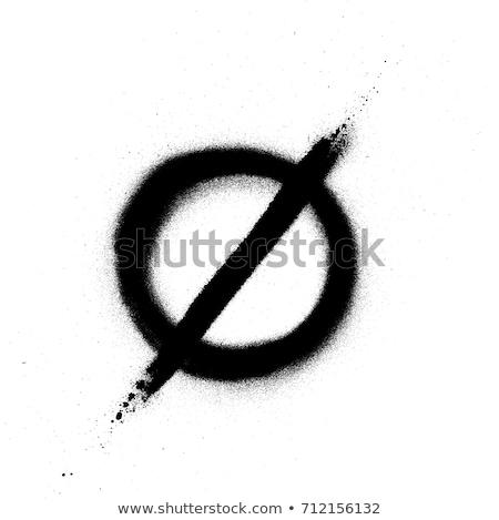 sprayed scandinavian graffiti vowel font in black over white stock photo © melvin07
