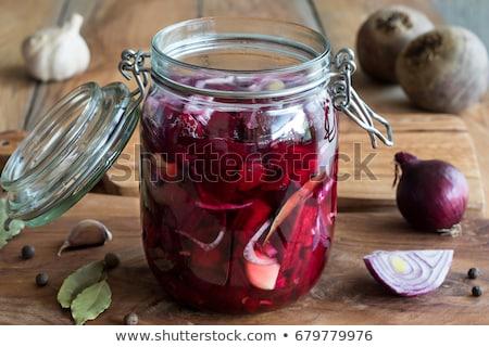 preparação · vermelho · cebolas · alho · saúde - foto stock © madeleine_steinbach