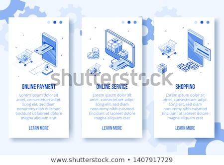 Negócio financiar conjunto isométrica vetor vertical Foto stock © Decorwithme