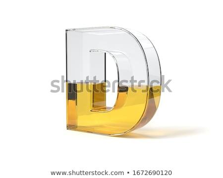 Arany betűtípus d betű 3D 3d render illusztráció Stock fotó © djmilic
