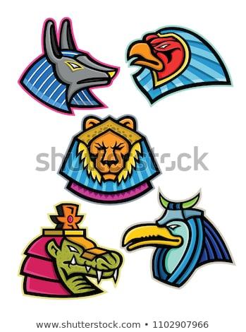 égyptien soleil dieu mascotte icône illustration Photo stock © patrimonio