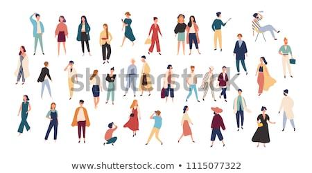 photographer woman and man vector illustration stock photo © robuart
