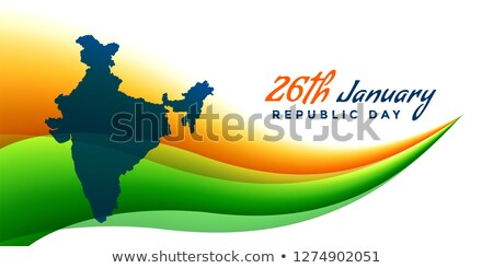 26th january republic day banner with map of india Stock photo © SArts