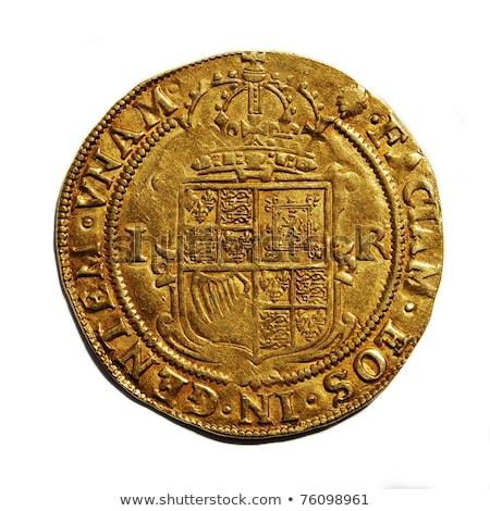Oude munten groot-brittannië verschillend landen geïsoleerd Stockfoto © fanfo