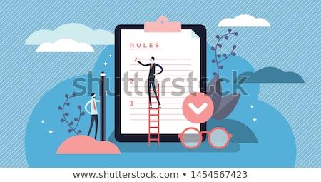 üzlet szabály üzletemberek nagyító néz folyamat Stock fotó © RAStudio