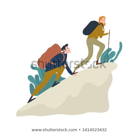 escursionista · ragazza · illustrazione · camping · attrezzi - foto d'archivio © cthoman