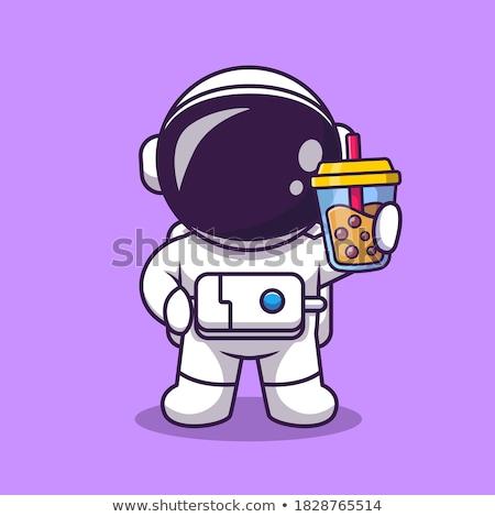 Cartoon Smiling Spaceman  Stock photo © cthoman