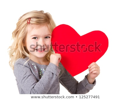 Mutter Kind halten rot Herz Hände Stock foto © AndreyPopov