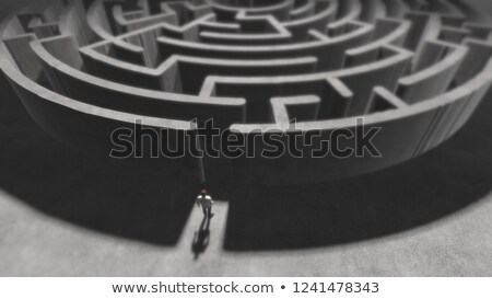3d puzzle maze labyrinth of autism concept Stock photo © nasirkhan