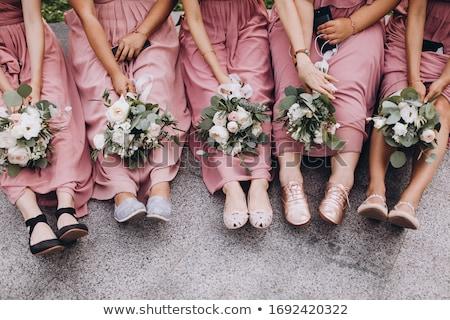 розовый платье свадьба ребенка модель Сток-фото © gsermek