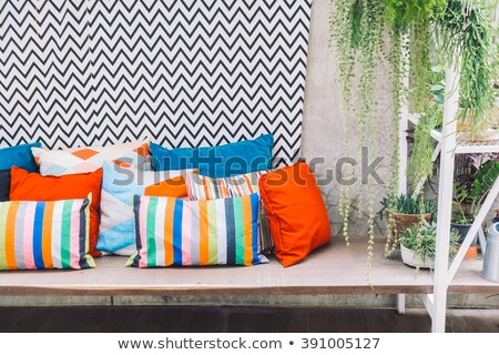 colorful pillows on the chair stock photo © dashapetrenko