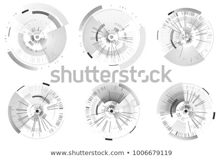 Infografía futurista círculos aislado blanco resumen Foto stock © kyryloff