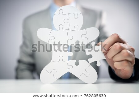 Human Hand Holding Job Jigsaw Puzzle Stock photo © AndreyPopov