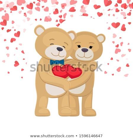 Male Female Plush Toys Celebrating Valentines Day Stock photo © robuart
