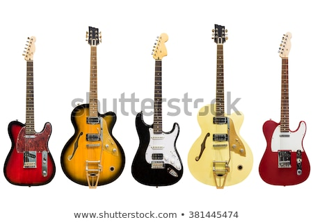 electric guitar music instrument in rock style stock photo © robuart