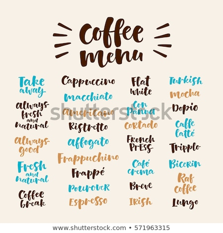 Ristretto lettering. Vector illustration of handwritten lettering. Vector elements for coffee shop,  Stock photo © bonnie_cocos