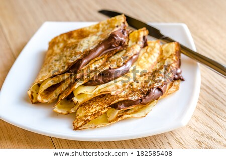 Crepes with chocolate cream  Stock photo © grafvision
