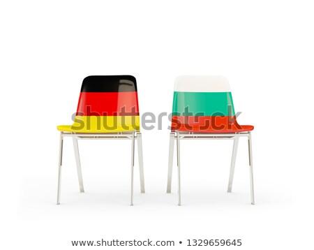 Dwa krzesła flagi Niemcy Bułgaria odizolowany Zdjęcia stock © MikhailMishchenko