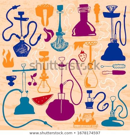 цвета Vintage табак магазин баннер дым Сток-фото © netkov1