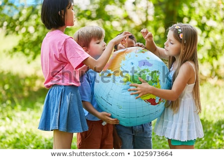 ecologia · bambino · mano · terra · mondo - foto d'archivio © choreograph