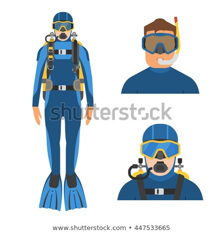 scuba divers in wetsuit and different equipments stock photo © colematt