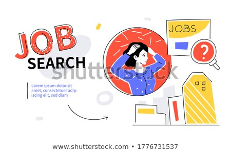 available vacancy   flat design style colorful illustration stock photo © decorwithme