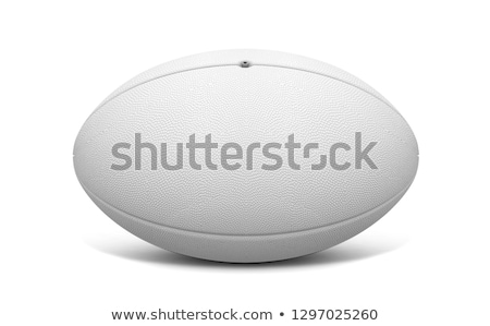белый мяч для регби изолированный 3d визуализации текстуры Сток-фото © albund