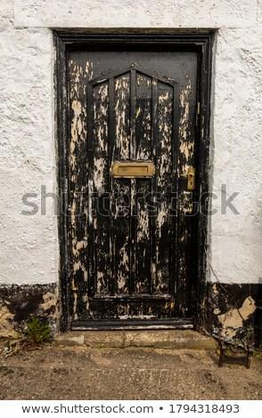 Houten huis slechte voorwaarde illustratie home Stockfoto © colematt