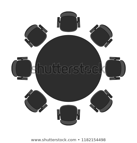 Empty Design View of Table with Chairs Vector Stock photo © robuart