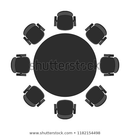 vacsora · kettő · macska · egér · tányér · sötét - stock fotó © robuart