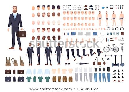 Zestaw mężczyzna pracownik biurowy ilustracja człowiek projektu Zdjęcia stock © bluering