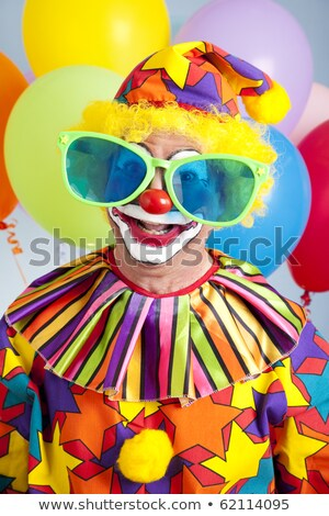 red clown nose and big smile Stock photo © nito