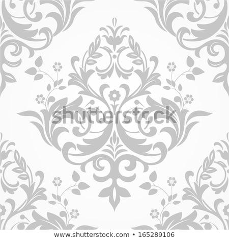 Vintage barok patroon vector ornament Stockfoto © frimufilms