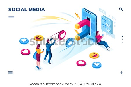 Attracting followers concept landing page Stock photo © RAStudio