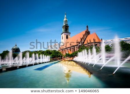 教会 ベルリン セントラル アレクサンダー広場 建物 市 ストックフォト © borisb17