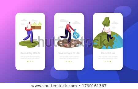 Pollution of Nature Vector Onboarding Stock photo © pikepicture