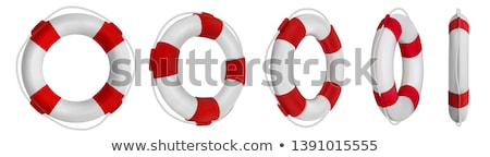 Red And White Lifebuoy For Help Life In Sea Vector Stock photo © pikepicture