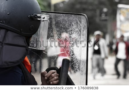 riot police with a baton Stock photo © studiostoks