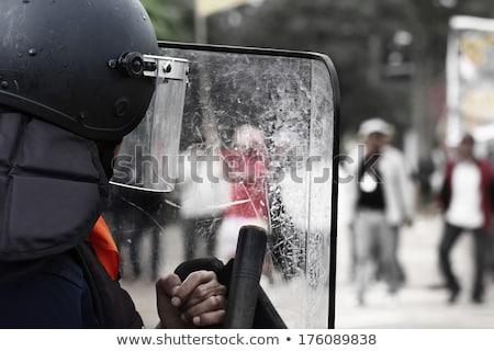 politieagent · politieagent · vintage · pop · art · retro - stockfoto © studiostoks