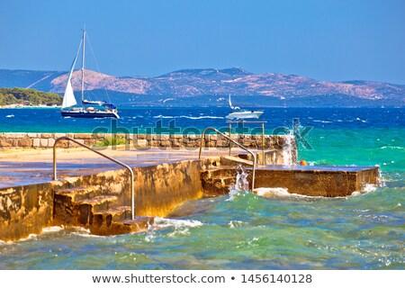 Sibenik bay entrance idyllic sailing destination view stock photo © xbrchx