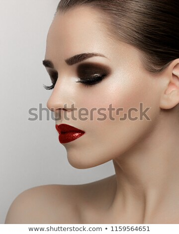 Piękna makro shot kobiet oka klasyczny Zdjęcia stock © serdechny